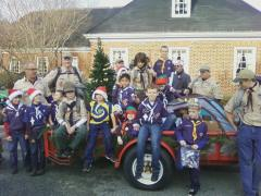 cub scouts in parade